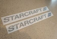 """Starcraft Vintage Travel Trailer/Boat Decals 18"""" FREE SHIP + FREE Fish Decal!"""