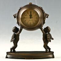 European Exquisite Brass Classical Mechanical The Angel  Clock GL1111