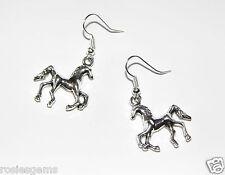 Un nuevo par de plata Pendientes de caballo de Joyería de Moda
