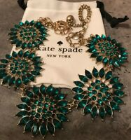 Kate Spade Green Star Flowers Retired Necklace