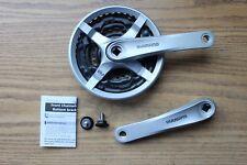 Shimano FC-TY501 Triple Bike Crankset 170mm Square 42x34x24 Silver Crank w/Guard
