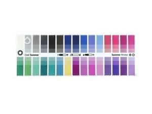 Stoff-Farbpass Fabric Color Swatch Cool Summer für die Farbberatung
