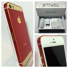 *RARE* CUSTOM RED & GOLD iPhone 5s - 64GB - (Unlocked) w/box & accessories