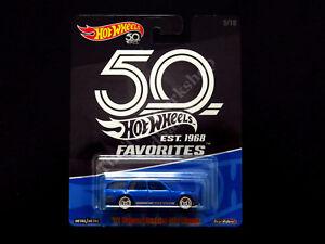 Hot Wheels 50th Anniv. Favourites Datsun Bluebird 510 Wagon Die-cast, Blue Car