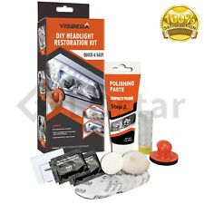 1 Set of DIY Headlight Lens Restoration Kit Manual Lamp Cleaning Tool
