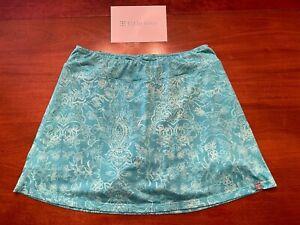 EX TITLE NINE floral BUTTAH stash POCKET shorts w/ SKIRT ACTIVE SKORT Womens L