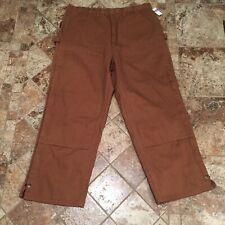 Army Navy Buffalo  Duck Work Wear Insulated Carpenter Pants Sz XL Brown New