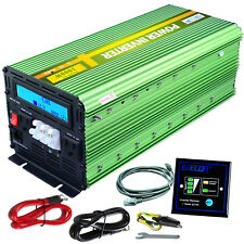 EDECOA 3000 Watt 6000W Power Inverter 12V DC to 110V 120V AC LCD Cable Car RV