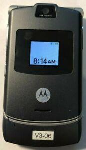 @READ@ Motorola RAZR V3 Gray Consumer Cellular T-Mobile Phone Excellent Vintage