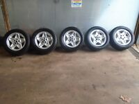 LAND ROVER DISCOVERY 2 TD5 SET 5 X 18 INCH  ALLOY WHEELS GENERAL GRABBER TYRES