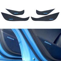 Carbon Inside door cover w/ Sky Blue Sticker 4p for for 2017 ~ 2019 Hyundai Kona