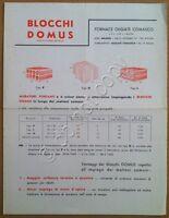 Materiali edili - Volantino pubblicitario - Fornace Olgiate Comasco - anni '50