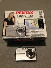 PENTAX OPTIO T30 DIGITAL CAMERA W/ BOX ACCESSORIES COMPLETE TOUCHSCREEN STYLUS