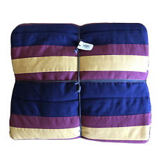 Pottery Barn Harry Potter Hogwarts Rugby Striped Twin Quilt Blue Yellow Maroon