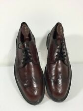 Vintage(?) Men's Nunn Bush Dark Red Leather Wing Tip Oxfords Size 10 B