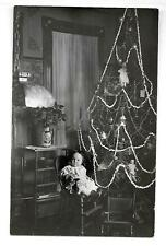 "#103  RPPC ""AZO"" Baby in High Chair  by Christmas Tree Dolls & Ornaments"