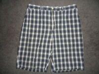 Polo Ralph Lauren Mens Golf Shorts Green Plaid Casual Flat Front Cotton Size:36