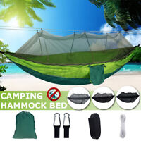 102''x55''  Camping Hammock Tent Hanging Bed Swing w/ Mosquito Net Outdoor US