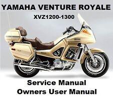 YAMAHA XVZ1200 VENTURE ROYALE Owners Workshop Service Repair Manual PDF on CD-R