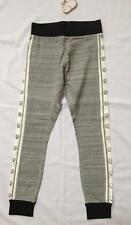 NWT Ivory Ella elephant jogger style yoga pants gray white stripe S small