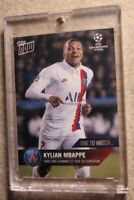 2020 UCL Topps Now One to Watch Kylian Mbappe RC FRANCE PSG RARE SP w/Holder