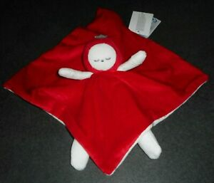Doudou Plat Poupée Fraisia Endormie Rouge Blanc Obaidi Okaidi Neuf Étiquette 4