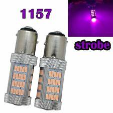 Strobe Rear Signal 1157 2057 2357 3496 7528 BAY15D P21/5W 92 LED Purple M1 MAR