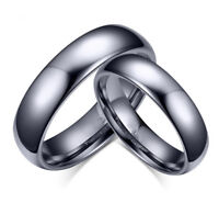 Tungsten Men's / Women's Classical Polish Wedding Band Ring Never Tarnish R110