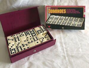 Vintage JUMBO 55 Piece DOMINOES Premier Edition DOUBLE NINE Cardinal CASE Boxed