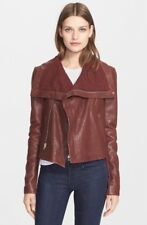 Veda Scuba Max Classic Leather Bordeaux red Jacket NWT L