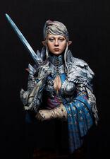 1/10 Resin Female Fantasy Guard Warrior Figure Bust Unpainted Unassembled 4042