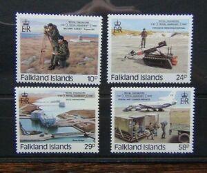 Falkland Islands 1987 Bicentenary of Royal Engineers Royal Warrant set MNH