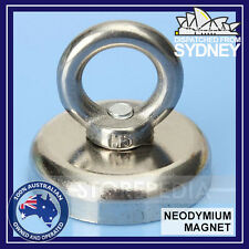 MAGNET Salvage Strong 32 x 31mm N52 Neodymium Eyebolt Circular Ring 18Kg Fishing