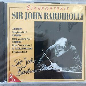 SIR JOHN BARBIROLLI: Starportrait - Brahms/Chopin/Williams (IT 2-CD 935094 /OVP)