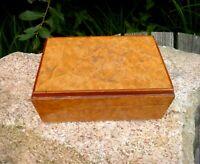 traumhafte antike Holzdose Deckeldose Edelholz Tabatiere Handarbeit edel