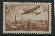 France 1936 3Fr 50c Plane over Paris brown Airmail mint o.g.