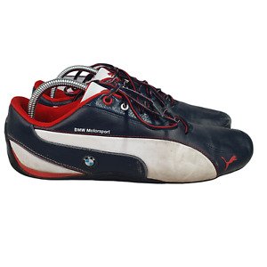 Puma BMW Motorsports Driving Shoes Mens 10 Sneakers Blue White Red