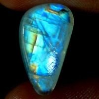 100% NATURAL BLUE FIRE RAINBOW MOONSTONE FANCY, CUSHION CABOCHON LOOSE GEMSTONE