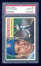 1956 Topps #5 Ted Williams PSA 8 NM Mint ++ HOF Red Sox Boston old label