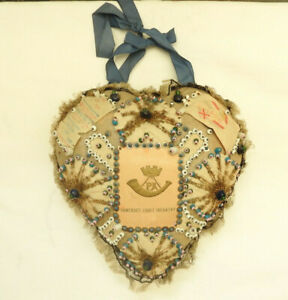Original Military WWI Sweetheart Silk Pin Cushion Somerset Light Infantry (5344)