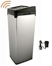 Motion Sensor 14 Gal Stainless Steel Trash Can Garbage Bin Waste Basket Indoor