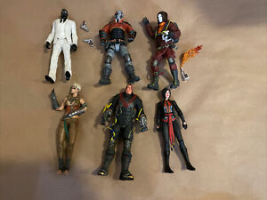 DC Batman Arkham Origins Figure Lot Of 6 Black Mask/Copperhead/Deadshot/Anarky
