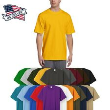 Mens HEAVY WEIGHT T Shirts SUPERMAX Plain Tee BIG AND TALL XL Solid Crew Neck