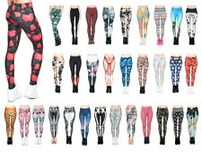 Leggings Damen bedruckt Sport Leggins Ladies Print Motiv Muster Stretch Legins