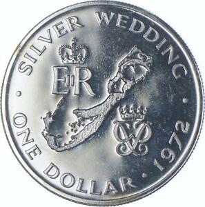 Better Date - 1972 Bermuda 1 Dollar - SILVER *584
