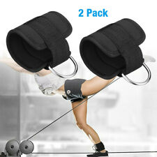 2 X Resistance Band D-ring Ankle Strap Leg Power Training Gym Fitness Equipment