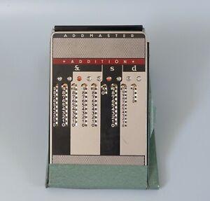 vintage calculator adding Machine, Addmaster mid century 1950's desk décor