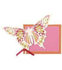 Anna Griffin Glittered Butterfly Diecut Custom Invitation 10ct -NEW!!