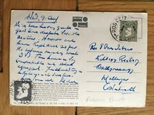 IRELAND 1961-90 GROUP OF USED POSTCARDS WITH NOTATED POSTMARKS FROM COUNTIES (9)