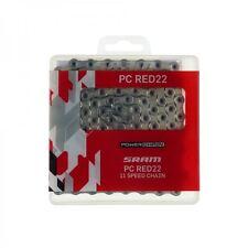 2015 Sram pc-red22 11-speed hollow-pin Bicicleta de carretera Cadena 114l encaja Rojo / vigor 22